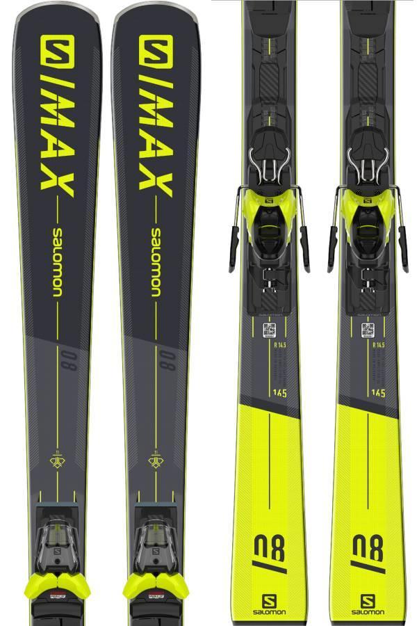 Salomon S/MAX 8 M11 GW Skis, 165cm Black 2021