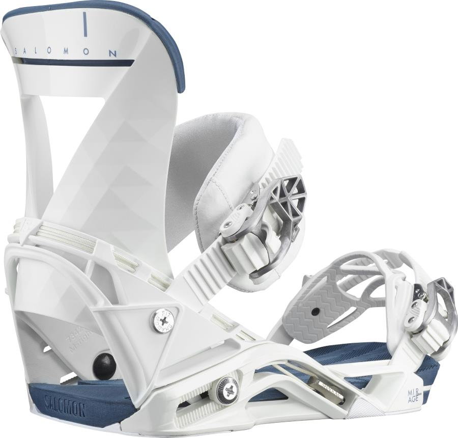 Salomon Mirage Women's Snowboard Binding, M White/Blue 2021