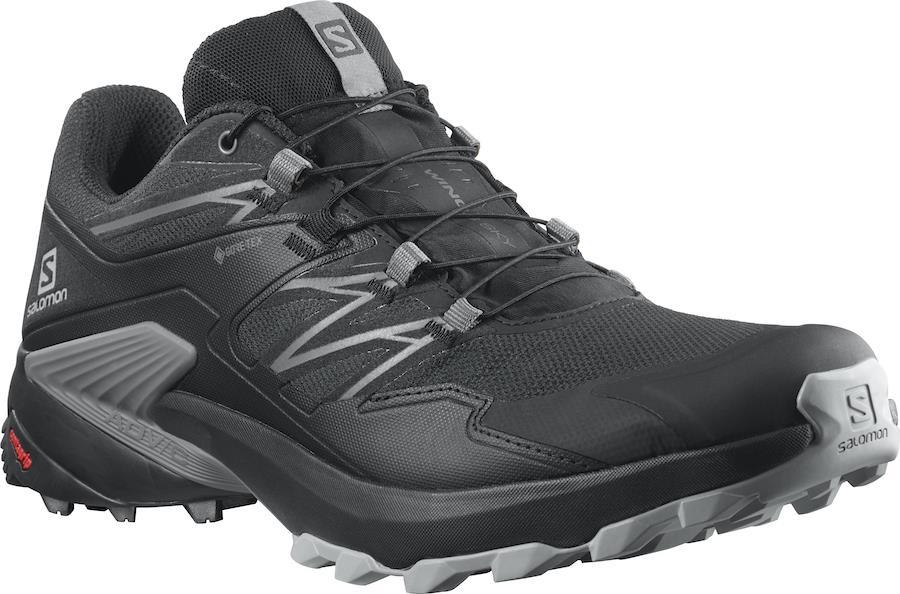Salomon Wings Sky Gore-Tex Trail Running Shoes, UK 7 Ebony/Black