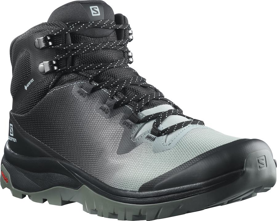 Salomon Vaya Mid Gore-Tex Women's Hiking Boots, UK 4 Aqua Gray
