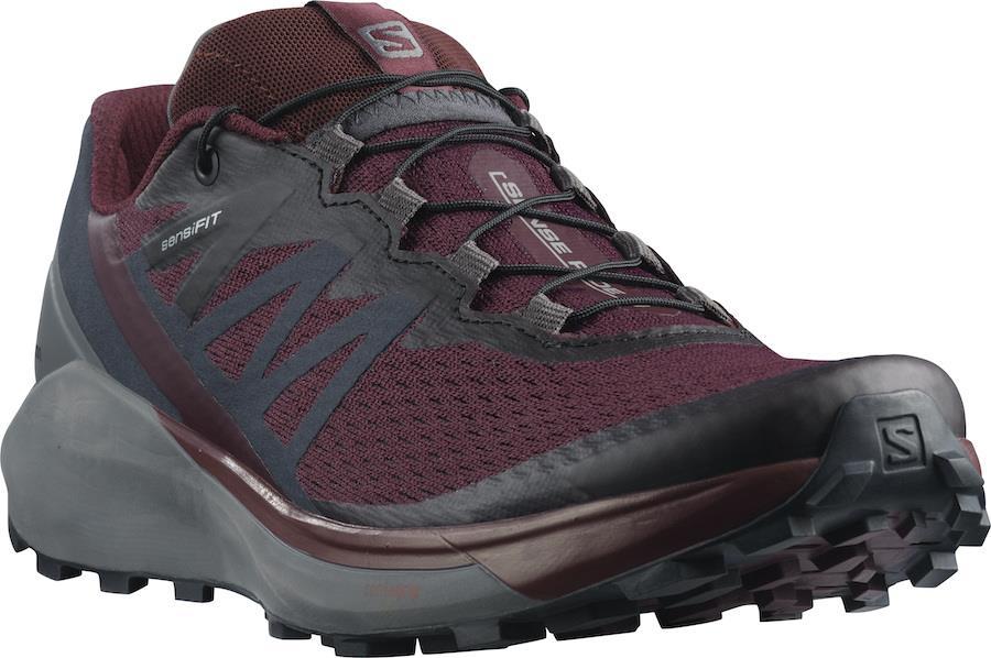 Salomon Sense Ride 4 Women's Trail Running Shoes UK 7.5 Wine Tasting