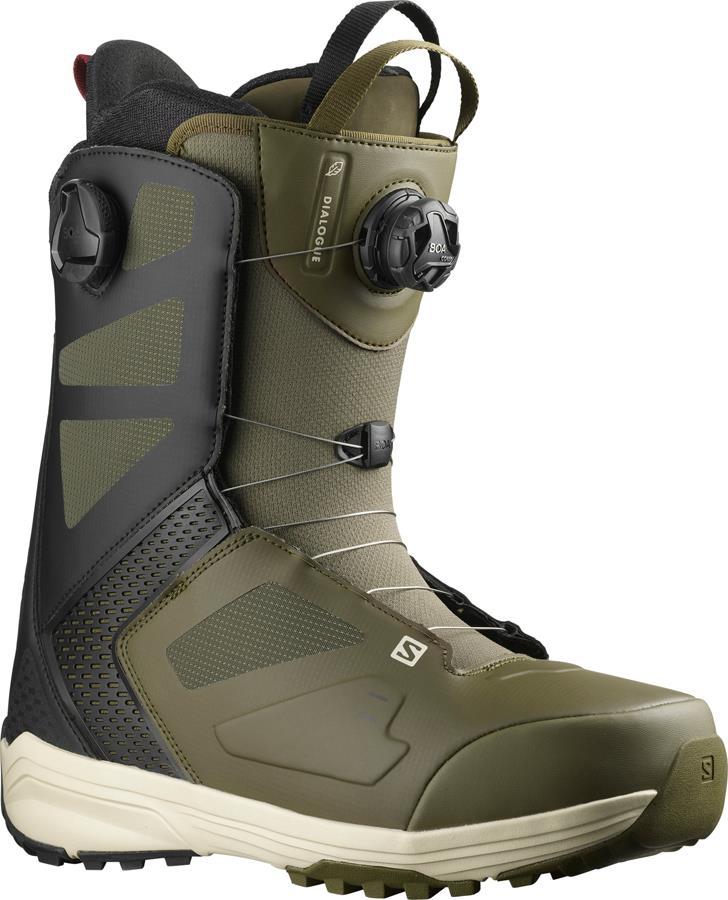 Salomon Dialogue Dual BOA Mens Snowboard Boots UK 9 Olive Night 2022