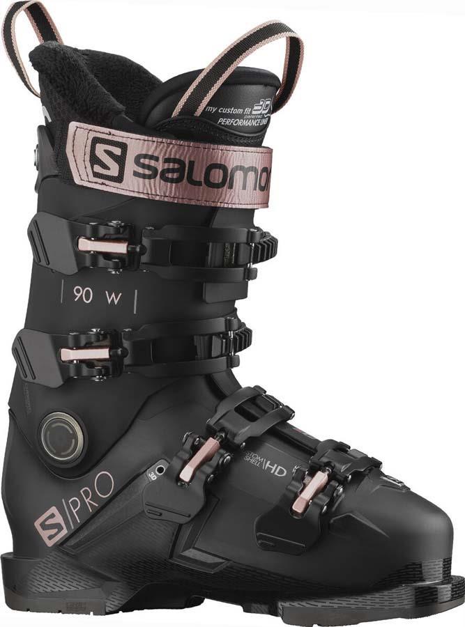 Salomon S/Pro 90 W GW Women's Ski Boots, 24/24.5 Black/Belluga/Gold 2022