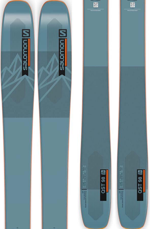 Salomon QST 98 Ski Only Skis, 183cm Blue/Orange 2022