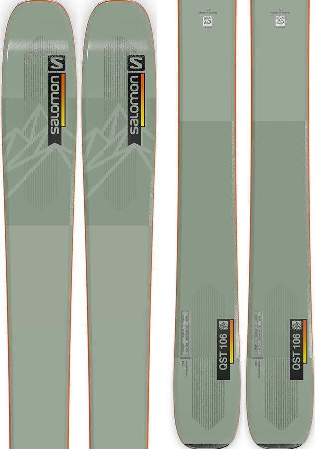Salomon QST 106 Ski Only Skis, 181cm Oil Green 2022