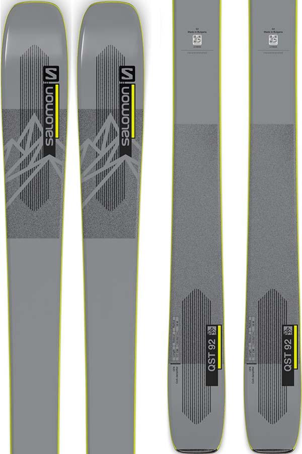 Salomon QST 92 Ski Only Skis, 177cm Grey/Yellow