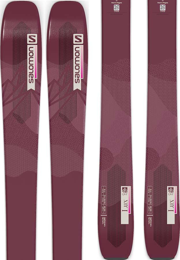 Salomon QST Lux 92 Ski Only Skis, 169cm Bordeau/Pink 2022