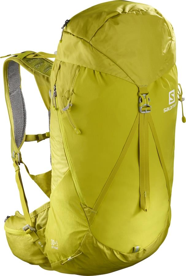 Salomon Out Night 30+5 30 L Hiking Backpack, M/L Citronell/Sulphur