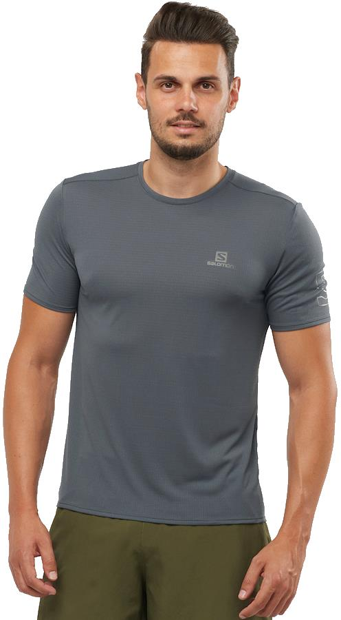 Salomon XA Trail Tee Short Sleeve Hiking/Running T-shirt, L Ebony
