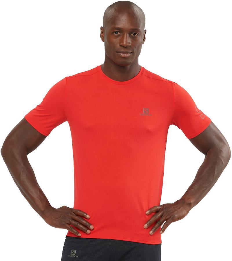 Salomon XA Trail Short Sleeve Hiking/Running T-shirt, M Goji Berry