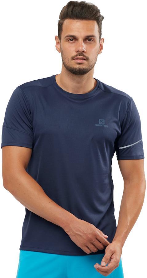 Salomon Agile SS Tee Short Sleeve Hiking/Running T-shirt S Night Sky