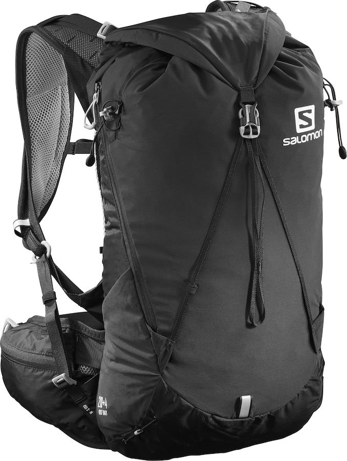 Salomon Out Day 20+4 Trekking/Hiking Backpack, M/L Black/Alloy