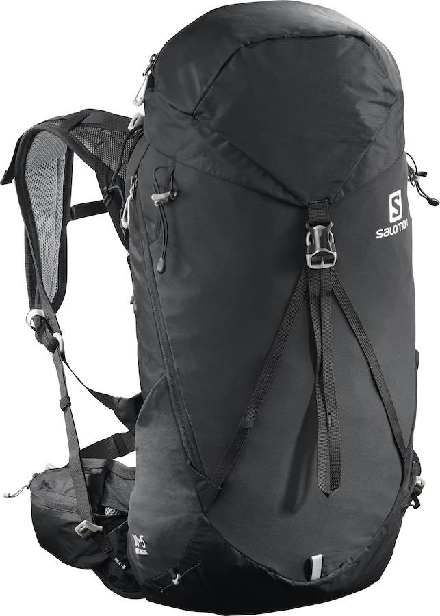 Salomon Out Night 30+5 30 Litres Hiking Backpack, M/L Black/Alloy