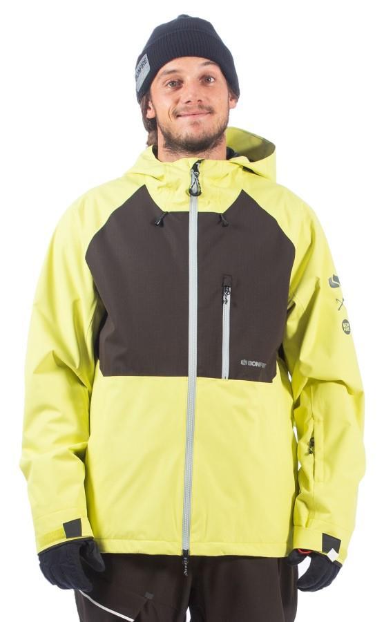 Bonfire Pyre Shell Ski/Snowboard Jacket, L Lime