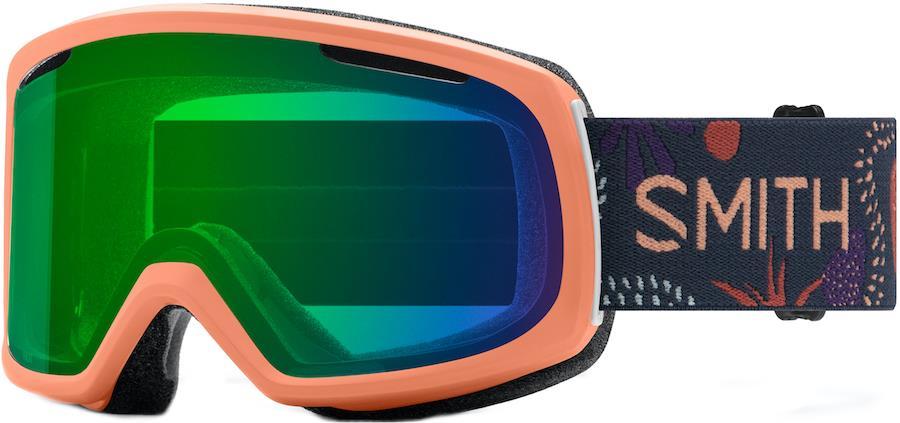 Smith Riot CP ED Green Women's Snowboard/Ski Goggles M Salmon Bedrock