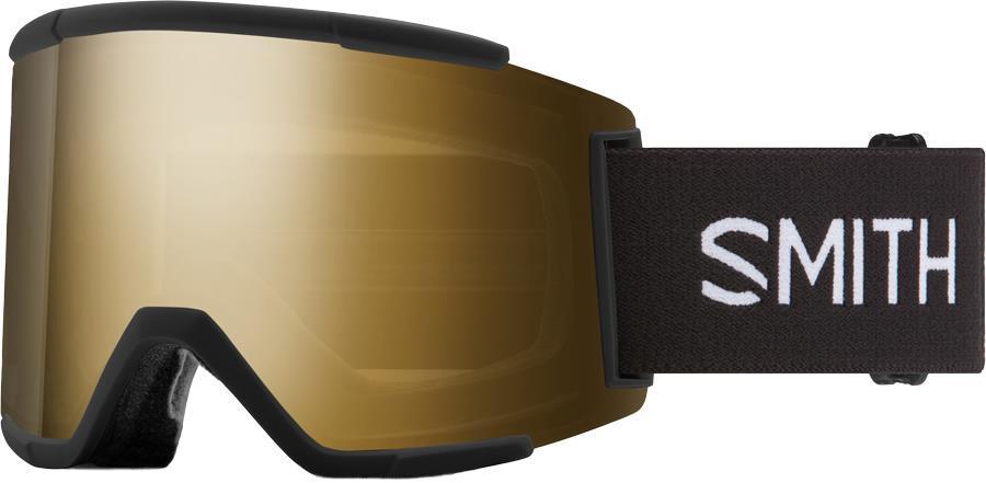 Smith Squad XL CP Sun Black Gold Snowboard/Ski Goggles M/L Black