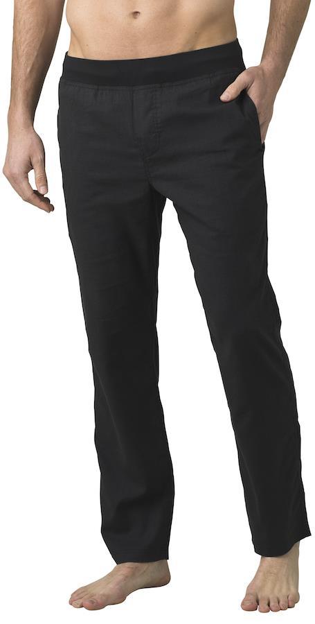 Prana Adult Unisex Vaha Straight Climbing/Yoga Trousers, Xs Dark Black