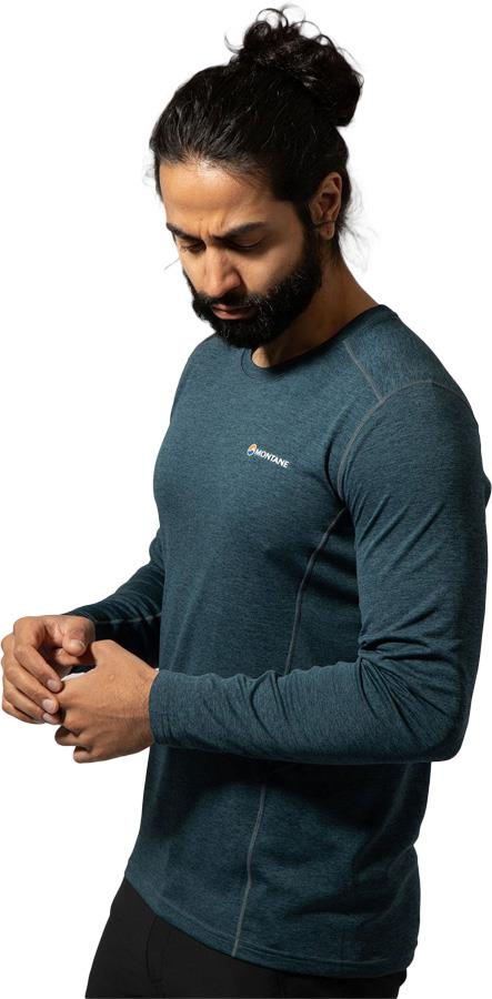 Montane Adult Unisex Dart Technical Long Sleeve Base Layer Top, L Orion Blue