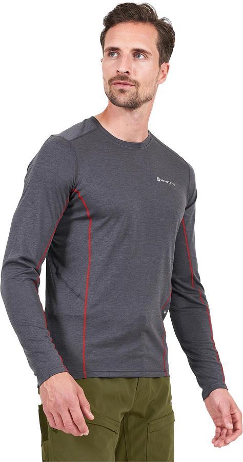 Montane Dart Technical Long Sleeve Base Layer Top, S Slate