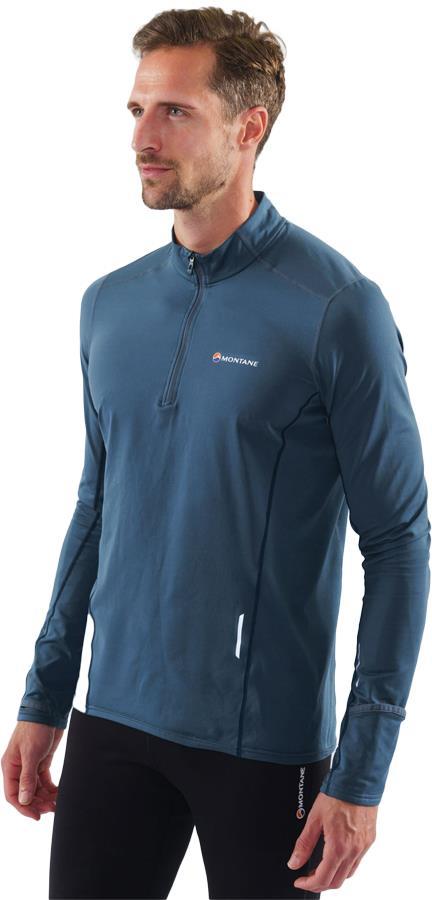 Montane Adult Unisex Dragon Pull-On Trail Running Technical Fleece, S Orion Blue