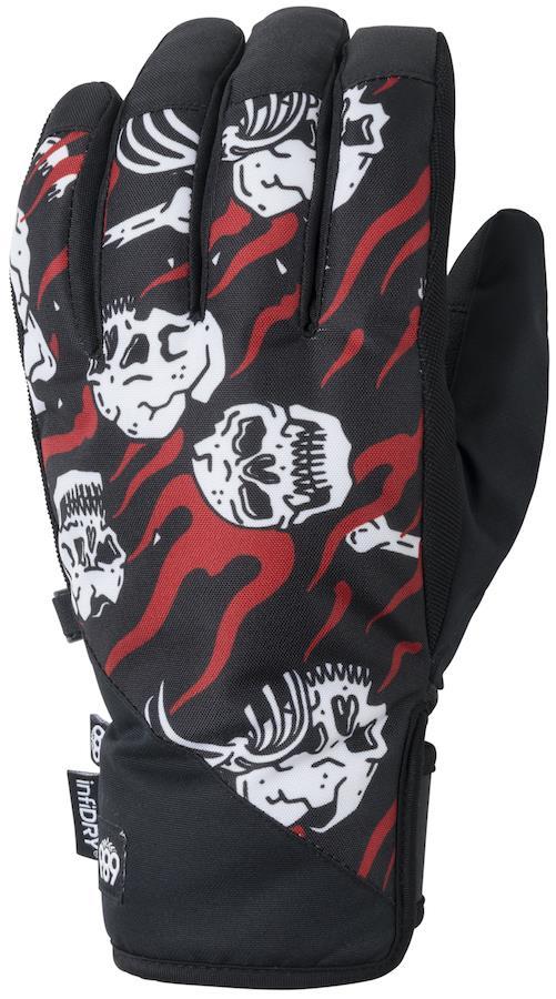 686 Ruckus Pipe Ski/Snowboard Gloves, L Sketchy Tank Hono