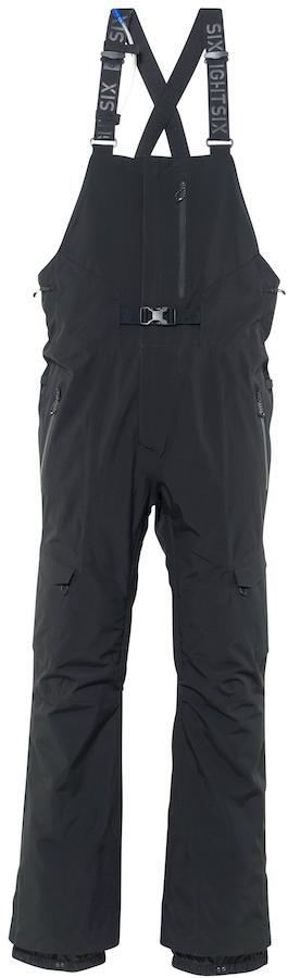 686 Quantum Thermagraph Hydrastash Snowboard/Ski Bib Pants, M Black