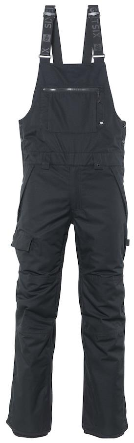 686 Adult Unisex Hot Lap Insulated Snowboard/Ski Bib Pants, M Black