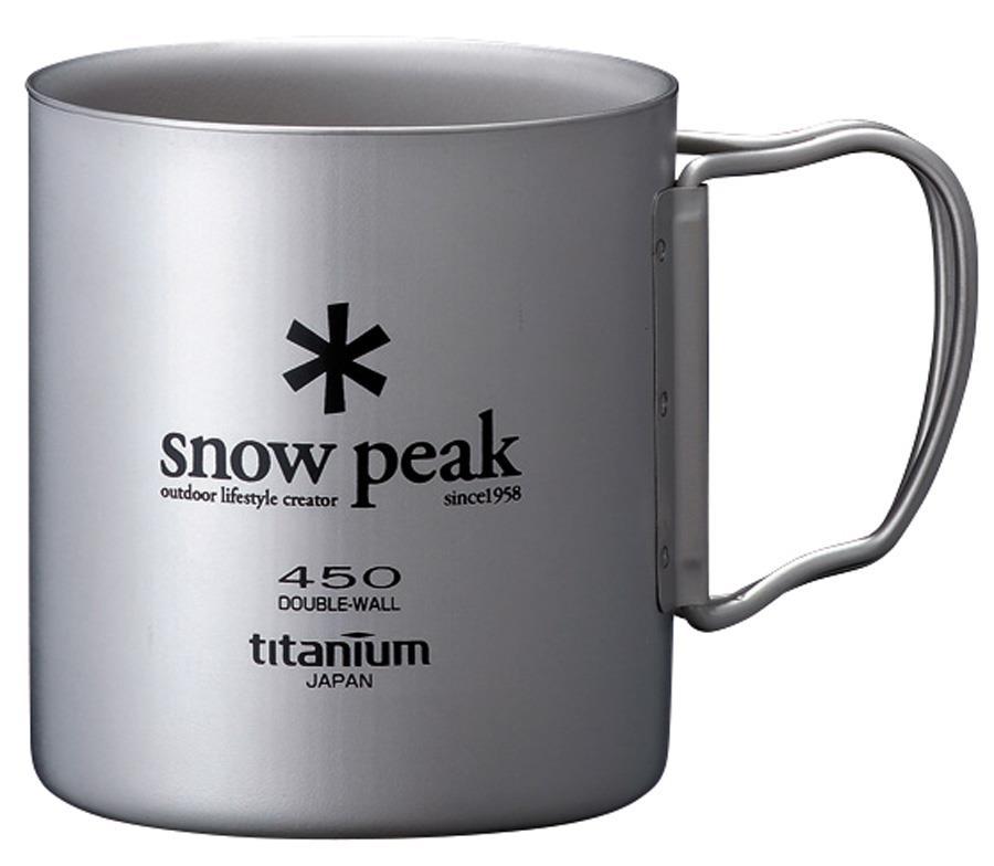 Snow Peak Titanium Double Wall 450 Mug Ultralight Camp Cup, 450ml