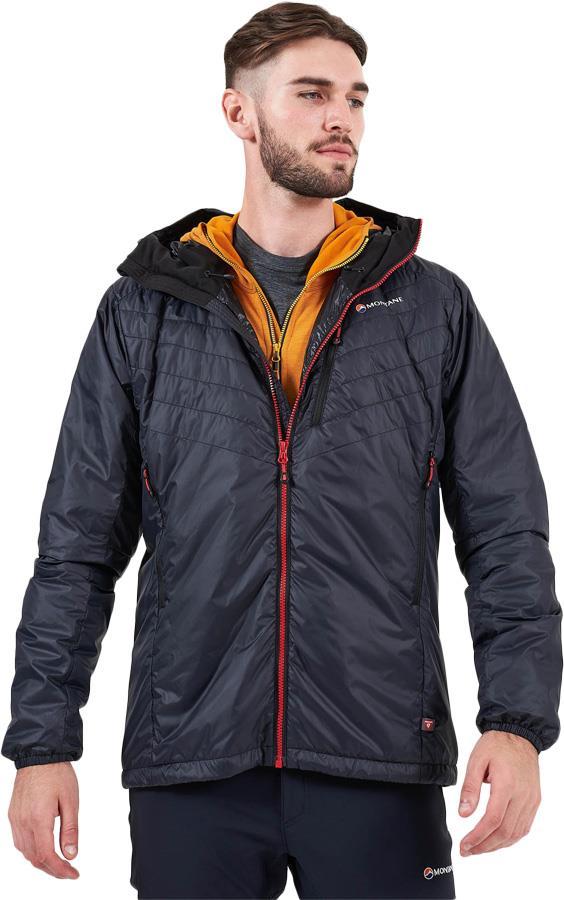 Montane Adult Unisex Prism Men's Insulated Primaloft® Jacket, S Black