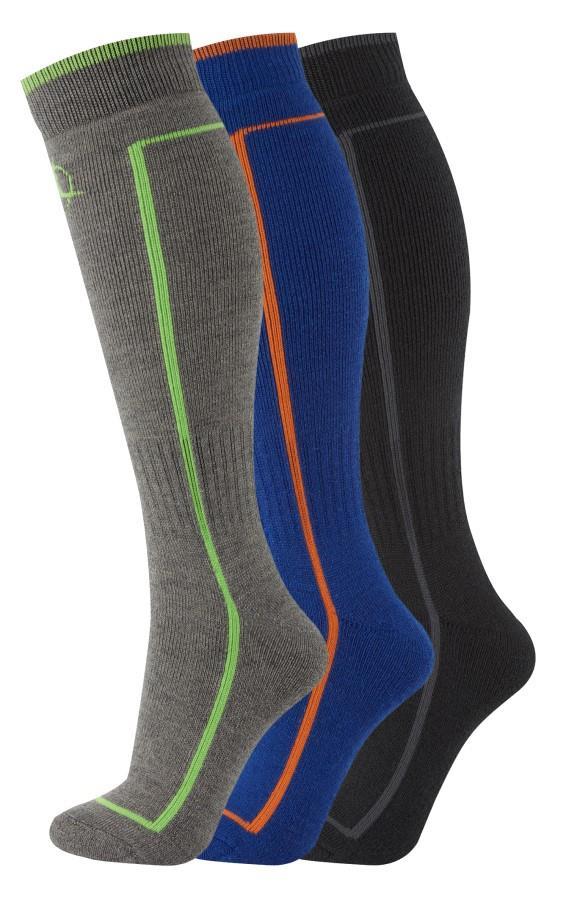 Manbi Performance Thermal Ski Sock 3-Pack, UK 7-9.5 Multi 2