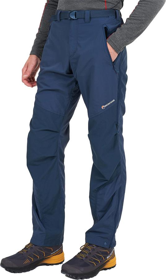 Montane Terra Pant Regular Technical Softshell Trousers S Astro Blue