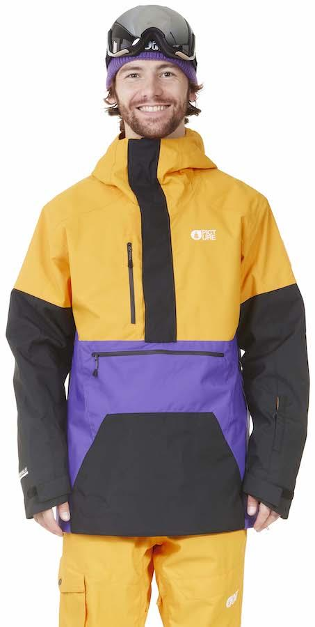 Picture Trifid Pullover Ski/Snowboard Jacket, L Yellow Black