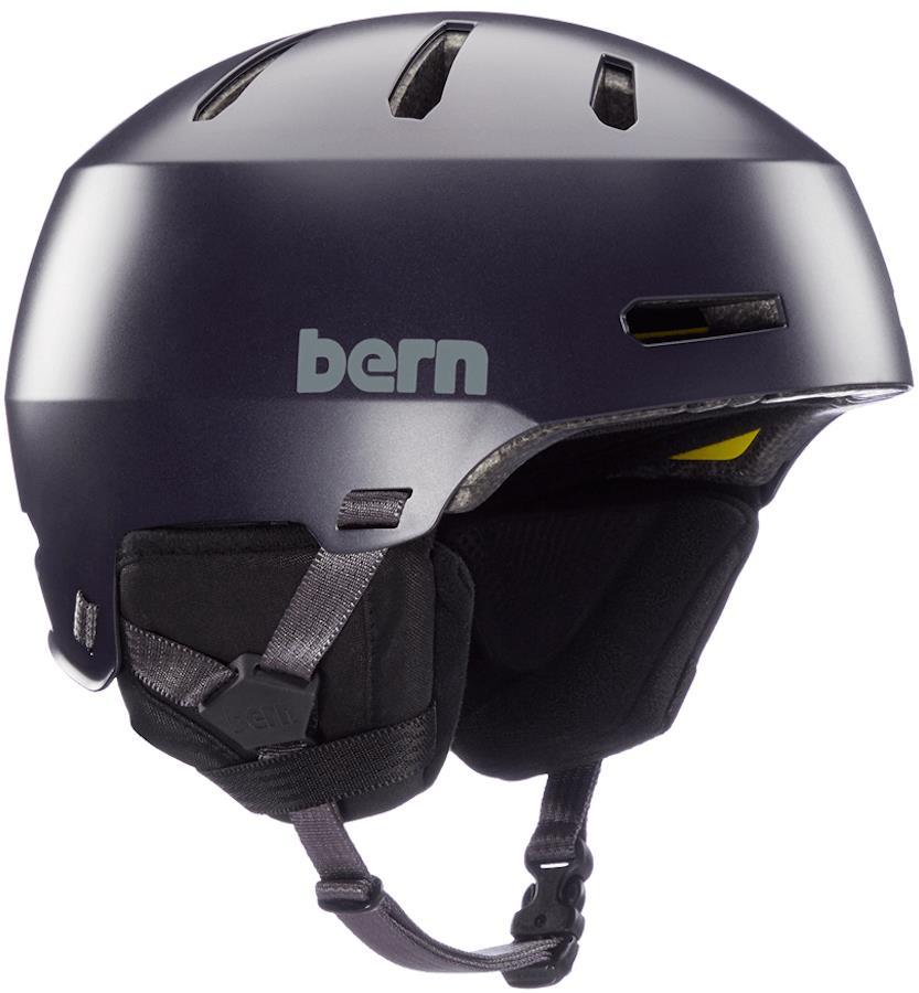 Bern Macon 2.0 MIPS Ski/Snowboard Helmet, M Satin Deep Purple