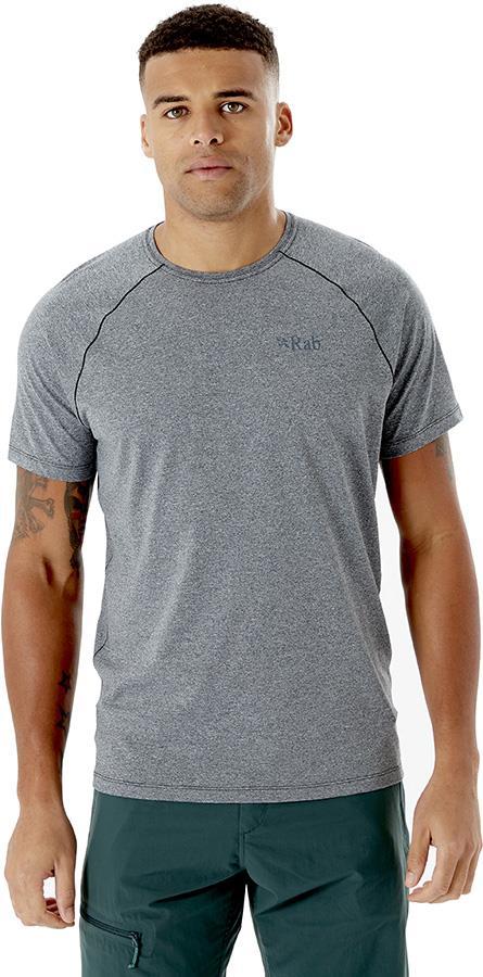 Rab Mantle Tee Men's T-Shirt, S Beluga Marl