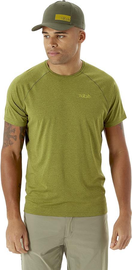 Rab Mantle Tee Men's T-Shirt, M Chlorite Green Marl