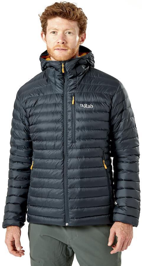 Rab Microlight Alpine Hooded Insulated Down Jacket, M Beluga