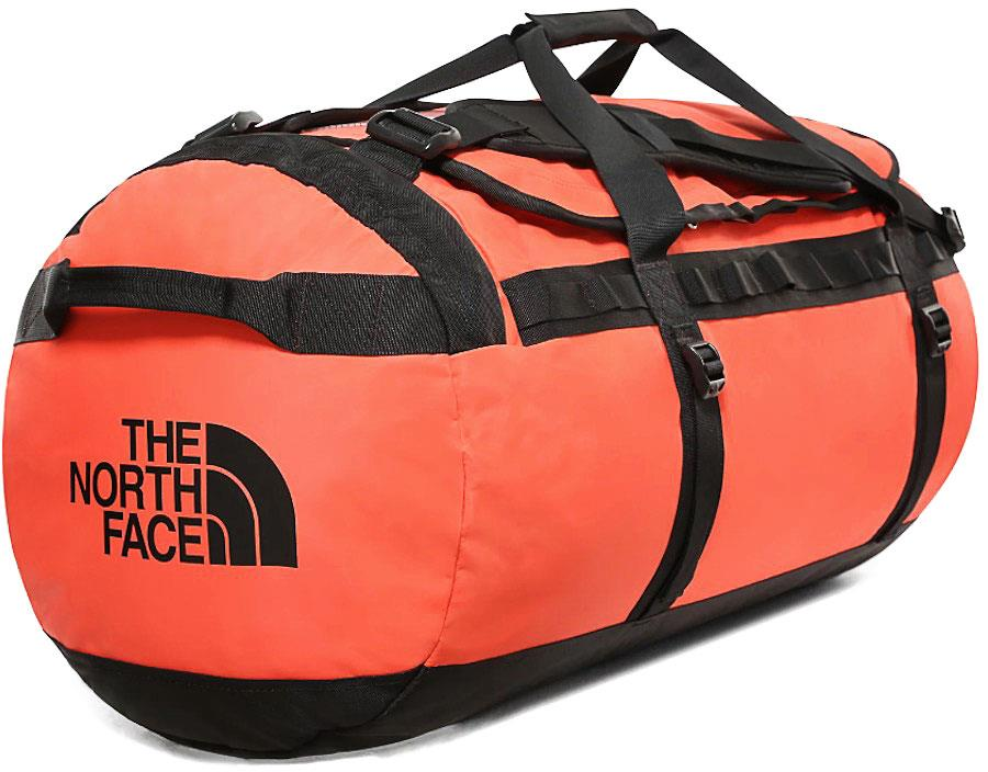 The North Face Base Camp Large Duffel Travel Bag, 95l Flare/Tnf Black