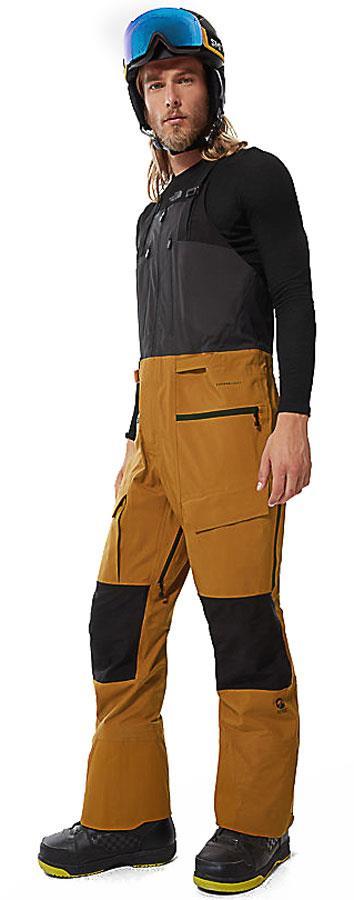North Face Ski/Snowboard Bib Pants, M Timber Tan