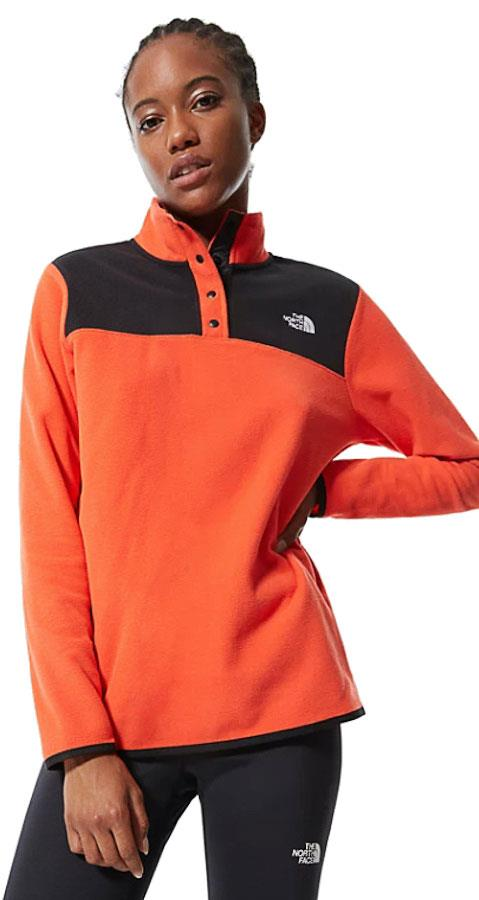 The North Face TKA Glacier Snap-Neck Women's Pullover UK 10 Flare