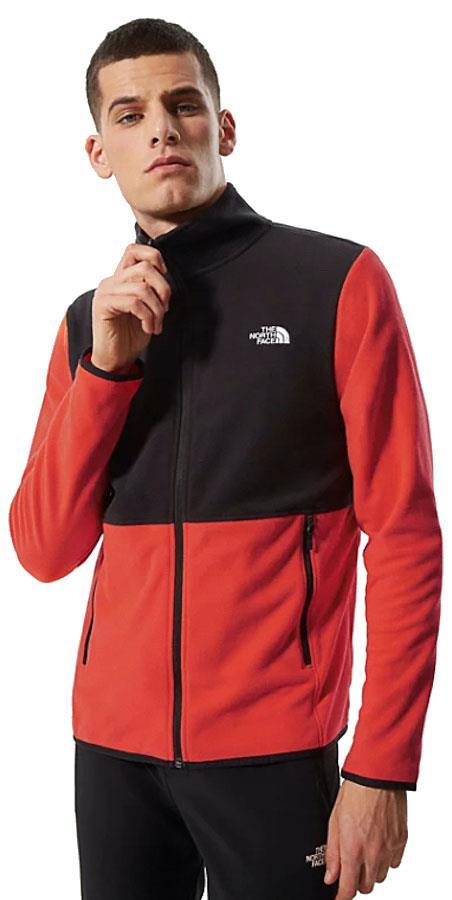 North Face TKA Glacier Full-Zip Fleece Jacket S Flare/Black