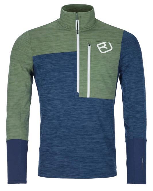 Ortovox Fleece Light Zip Neck Fleece, M Night Blue Blend