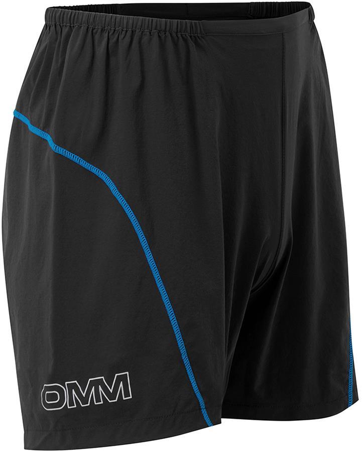 OMM PaceLight Men's Running Shorts, L Black/Blue