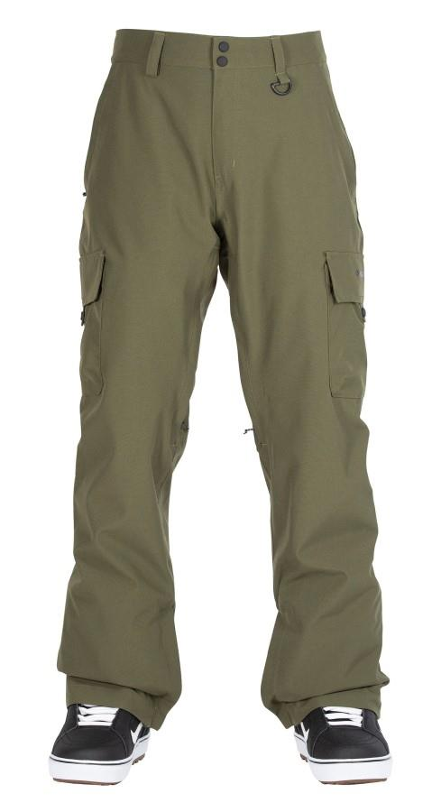 Bonfire Adult Unisex Tactical Ski/Snowboard Pants, M Olive