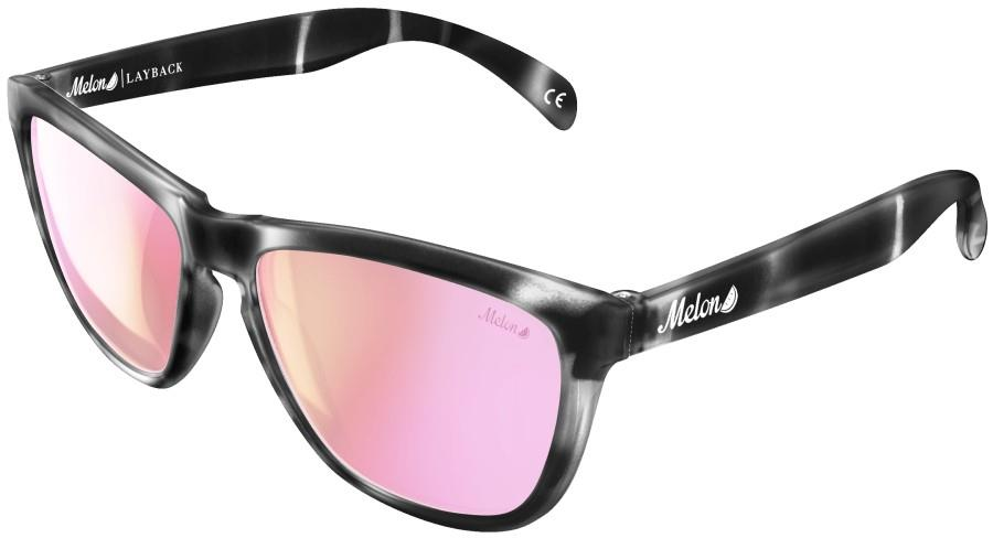Melon Layback Pink Chrome Polarized Sunglasses, M Orchid