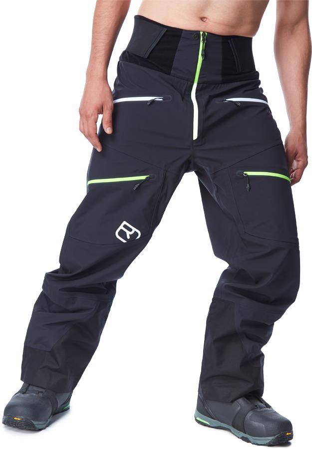 Ortovox Men's 3L Guardian Shell Ski/Snowboard Pants, M Black Raven