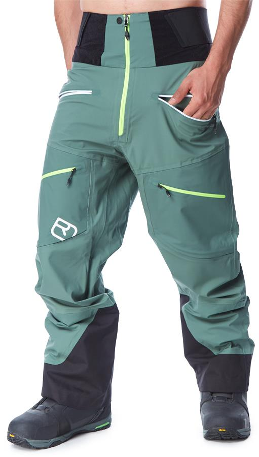 Ortovox Men's 3L Guardian Shell Ski/Snowboard Pants, M Green Forest