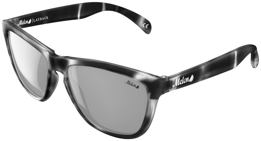 Melon Layback Silver Chrome Polarized Sunglasses, M Panther
