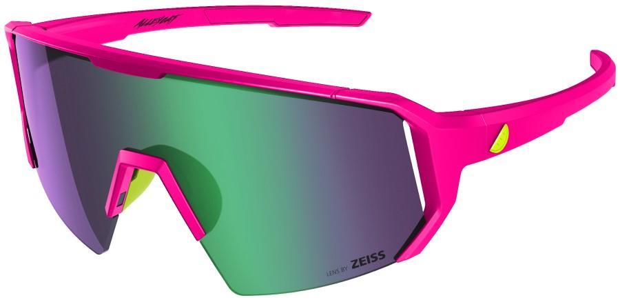 Melon Adult Unisex Alleycat Violet Chrome Performance Sunglasses, M/L Pink/Yellow