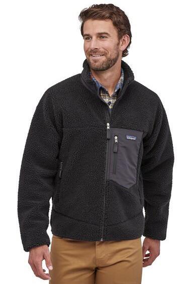 Patagonia Classic Retro-X Full Zip Fleece Jacket M Black/Black