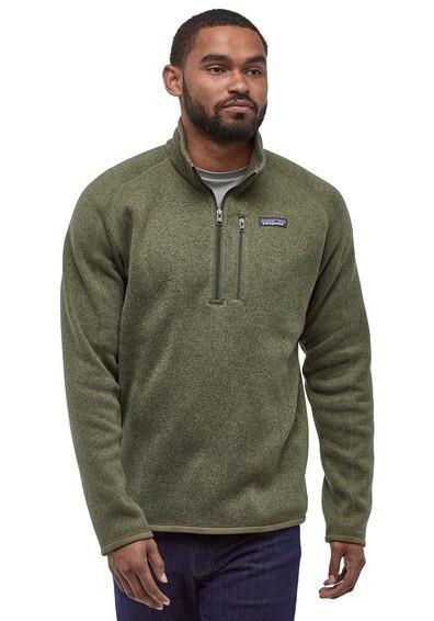 Patagonia Adult Unisex Better Sweater 1/4 Zip Pullover Fleece Jacket, S Green